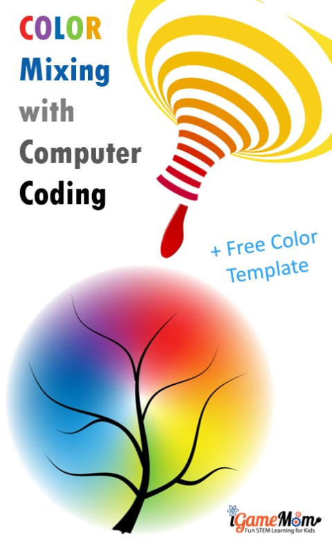 RGB Color Mixing with Coding Spring Template - general color chart template