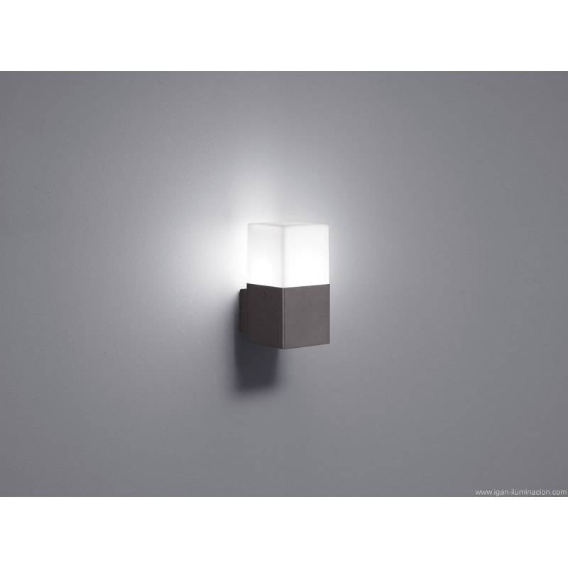 Tiffany Deckenlampen Aplique De Pared Hudson 1 Luz Led Gris Pizarra - Trio