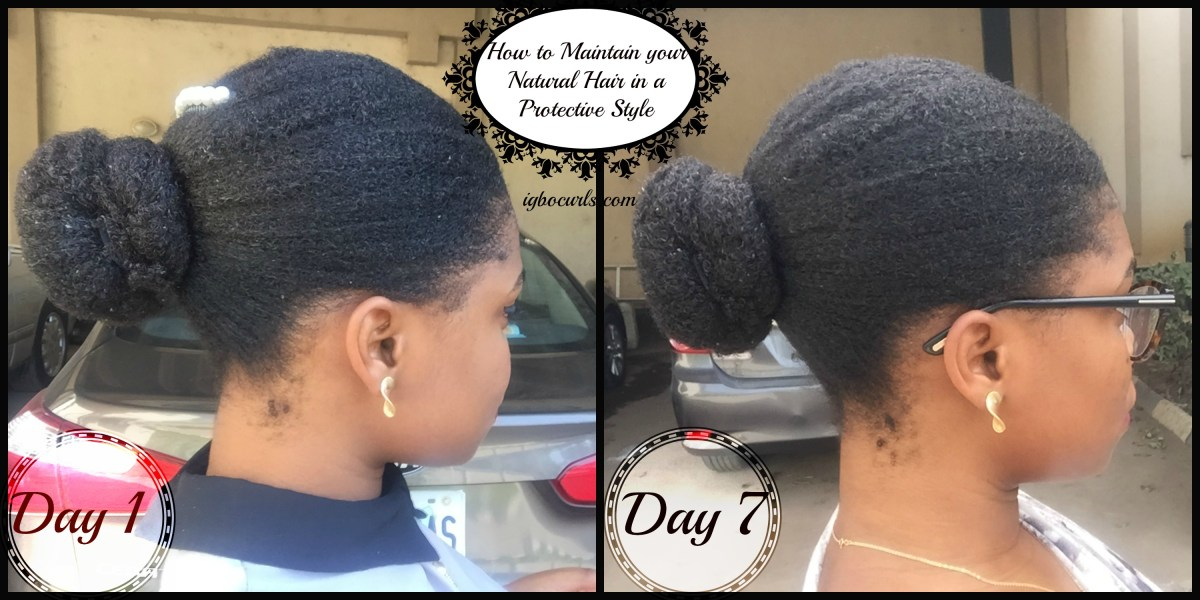 How to Maintain/Moisturise Natural Hair in a Protective Style