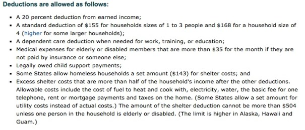 """""""georgia food stamps income deductions"""""""