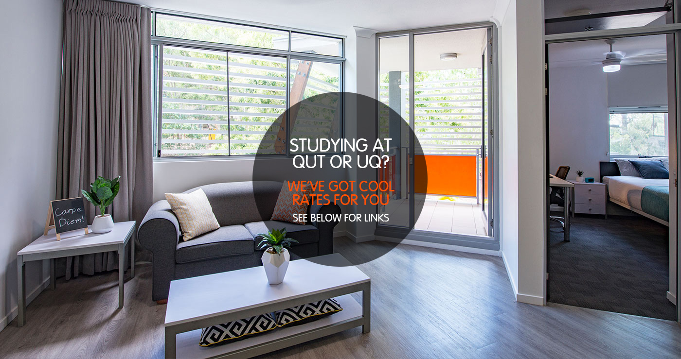 1 Bedroom Apartment Brisbane One Bedroom Student Apartment Iglu Kelvin Grove Brisbane