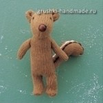 Как сделать игрушку из перчатки своими руками. Бурундук