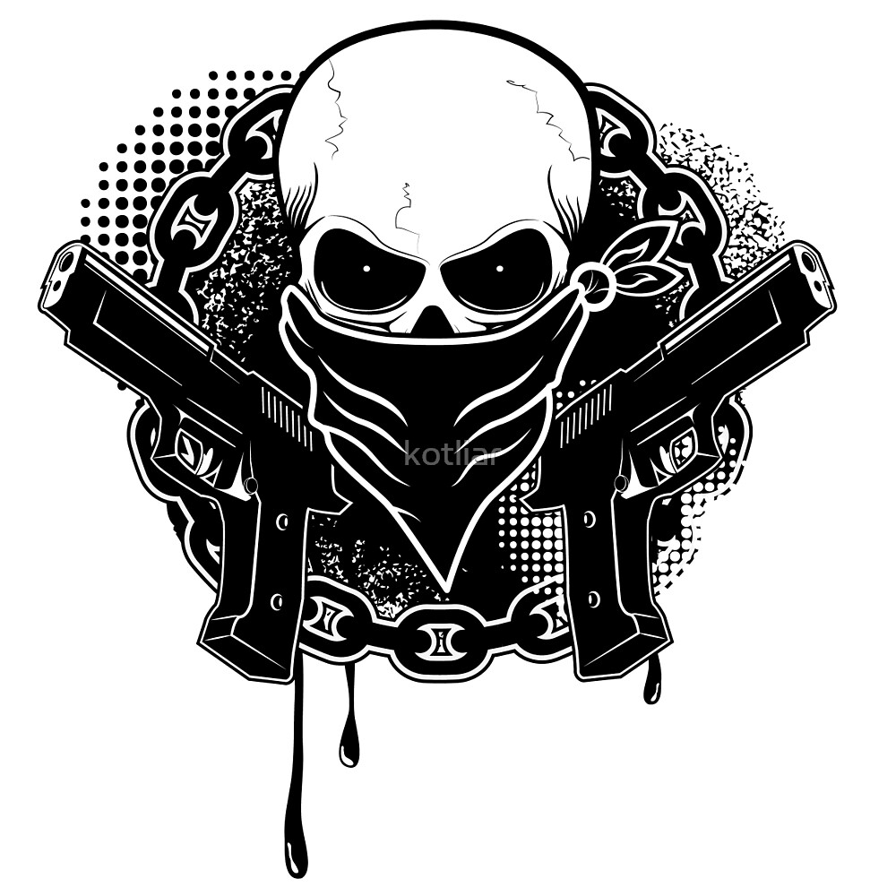 Dirt Bike Wallpaper Girls Drawings Of Skulls With Bandanas And Guns Www Imgkid Com
