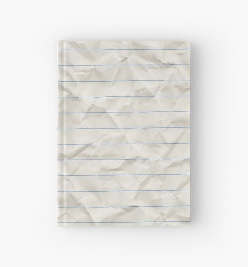 Crinkled lined paper\