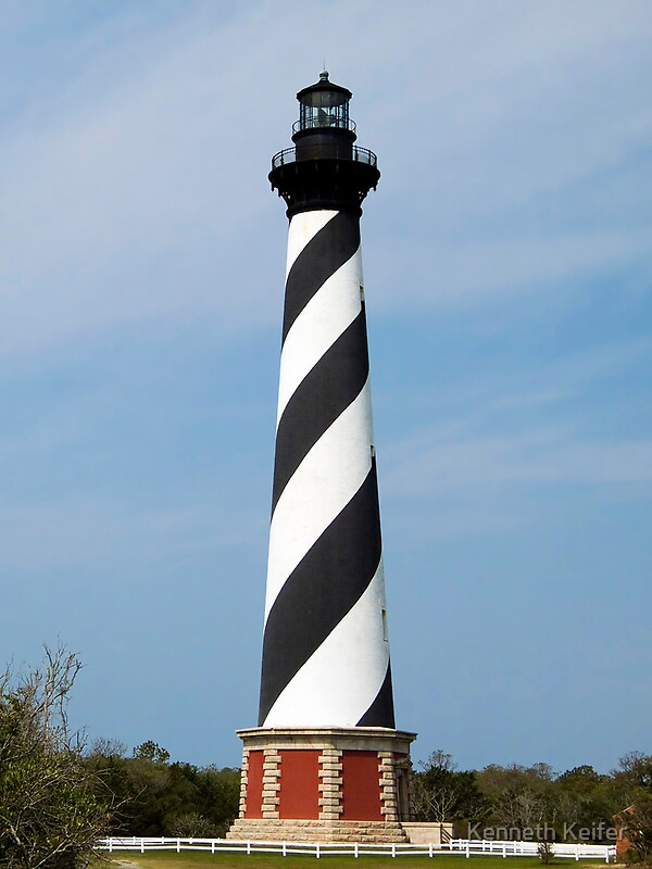 Toddler On Car Cape Hatteras Lighthouse Outer Banks North Carolina By