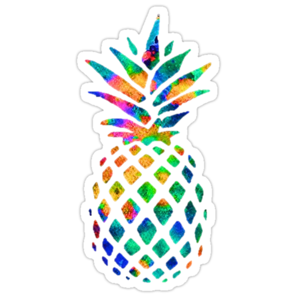 Iphone X Cool Wallpaper Features Quot Rainbow Pineapple Quot Stickers By Erinaugusta Redbubble