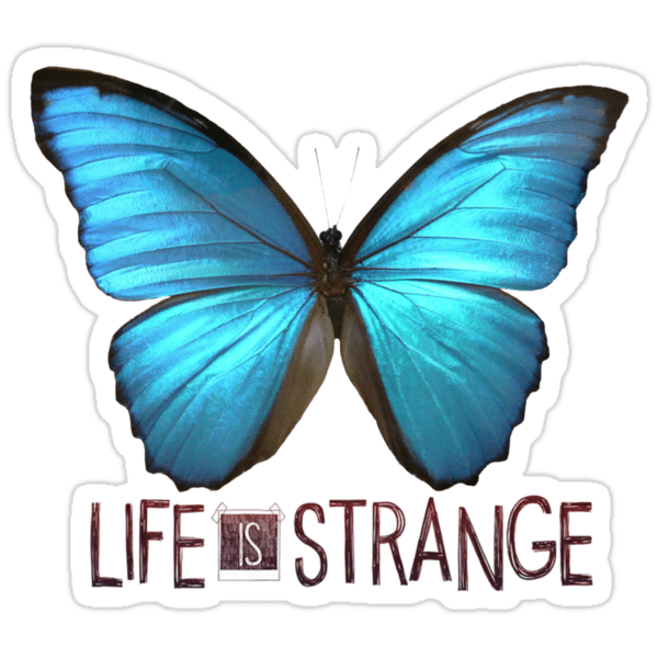 Iphone X Wallpaper With Border Quot Life Is Strange Butterfly Quot Stickers By Queenhannahh