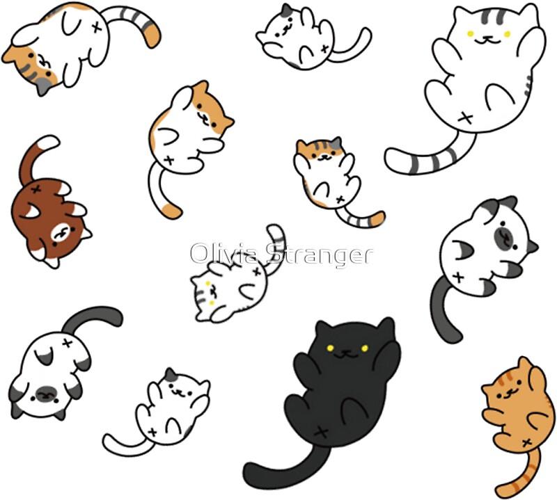 Cute Christmas Kitten Wallpaper Quot Neko Atsume Sticker Sheet Quot Stickers By Pepe Princess