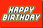 Happy Birthday LEGO Letter Font
