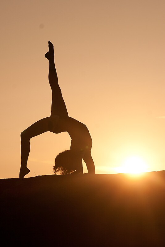 Silhouette Iphone Wallpaper Quot Yoga Poses At Sunset 4 Quot By Jonwhowson Redbubble