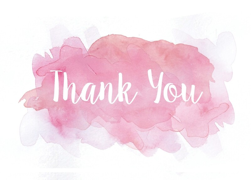 """""""Thank You Watercolor Greeting Card"""" Art Prints by"""