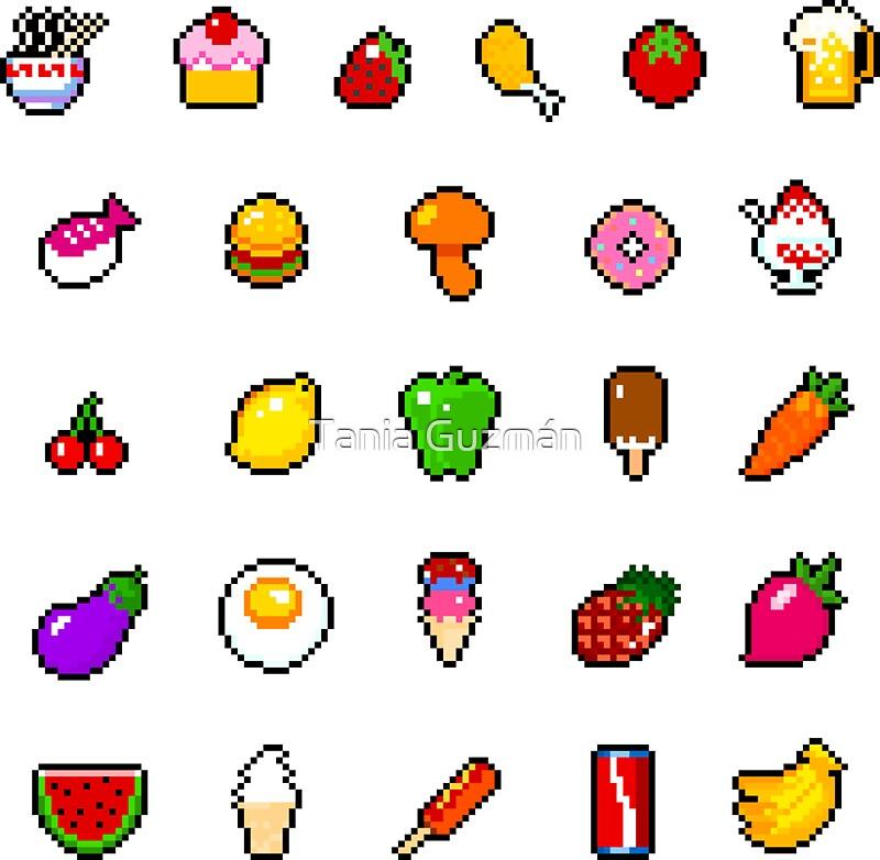 Cute Cartoon Sushi Wallpaper Quot Food Pixel Art Quot Stickers By Galegshop Redbubble