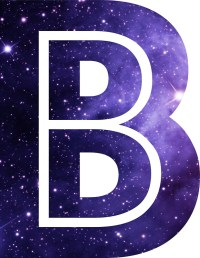 """The Letter B - Space"" Stickers by Mike Gallard 