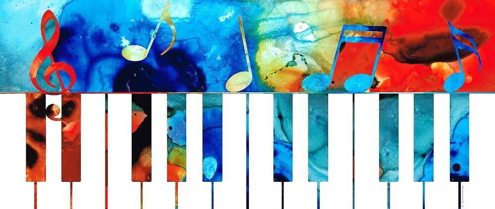 Classic Iphone Wallpaper For Iphone X Quot Colorful Piano Art By Sharon Cummings Quot By Sharon Cummings