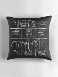 """History of Controllers"" Throw Pillows by rhyslohf 