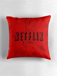 """Netflix and Chill"" Throw Pillows by LouieThomas 