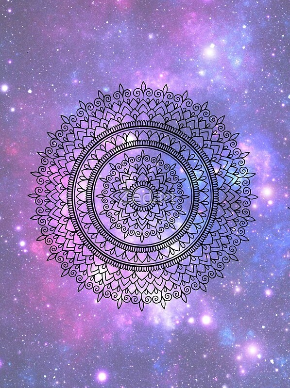 Hd Lavender Wallpaper Quot Hand Drawn Mandala On Pretty Purple Galaxy Star