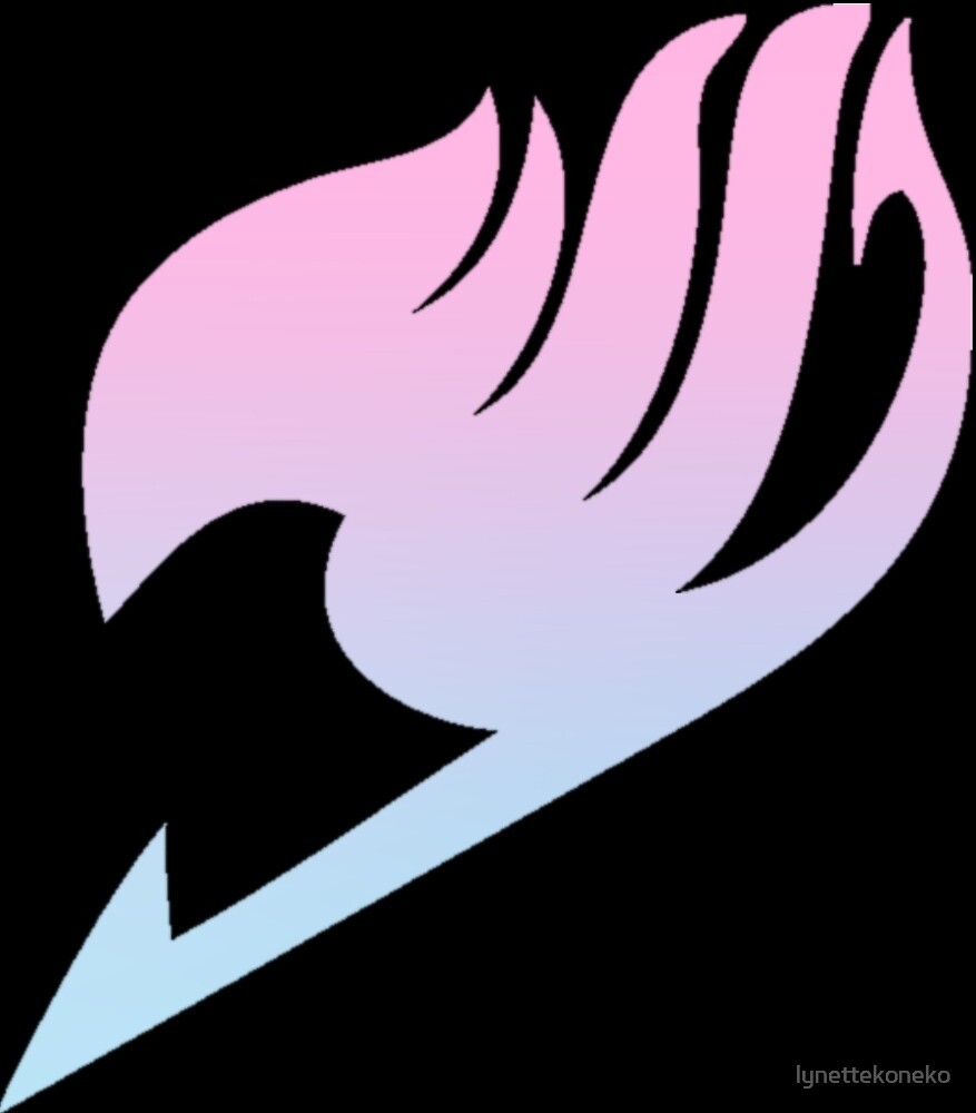 Baby Pink Iphone Wallpaper Quot Pink Blue Gradient Fairy Tail Logo Quot By Lynettekoneko