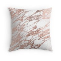"""""""Chic Elegant White and Rose Gold Marble Pattern"""" Throw ..."""