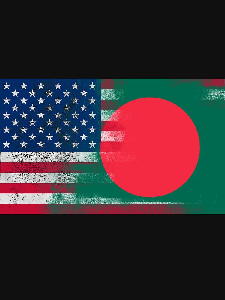 Bangladeshi American Half Bangladesh Half America Flag \