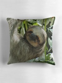 """""""Sloth """" Throw Pillows by mnusl 