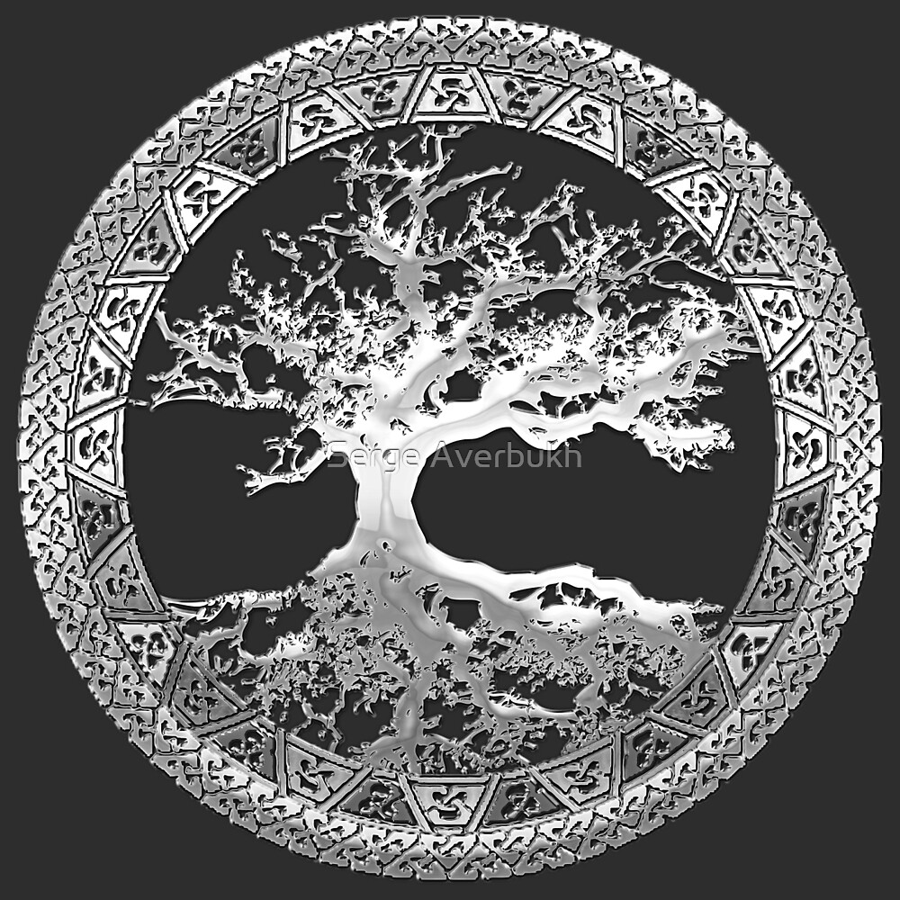 Eagle Wallpaper Iphone X Quot Celtic Tree Of Life Yggdrasil Silver Quot By Serge