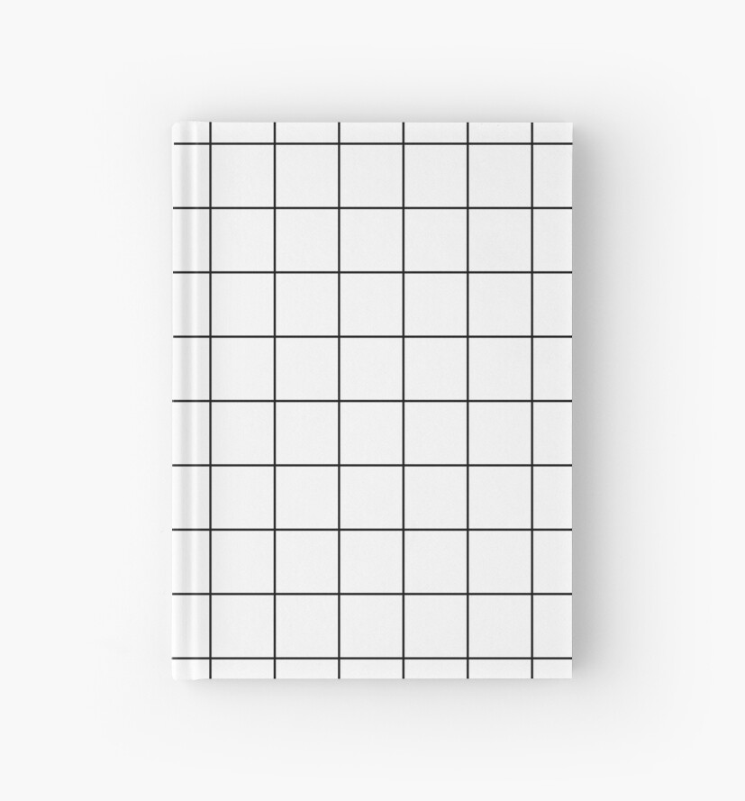 Graph Paper Grid Black Lines On White\