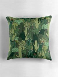 """Cactus Pattern"" Throw Pillows by Shopzoki"