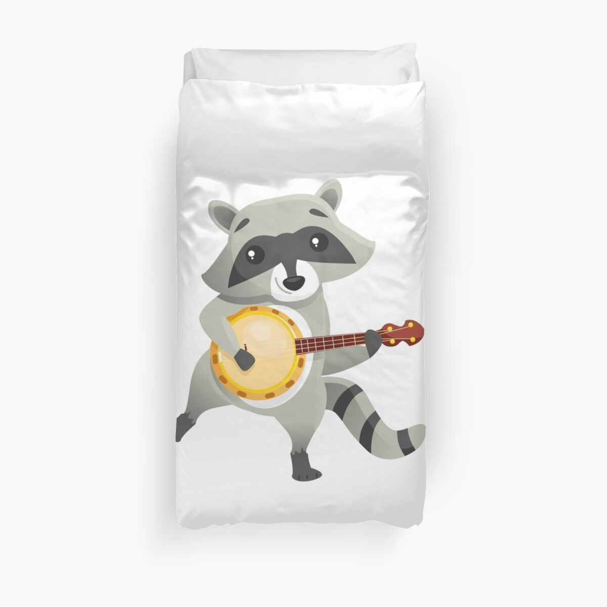 Grappige Dekbedovertrekken Quotfunny Raccoon Playing The Banjo Quot Duvet Covers By