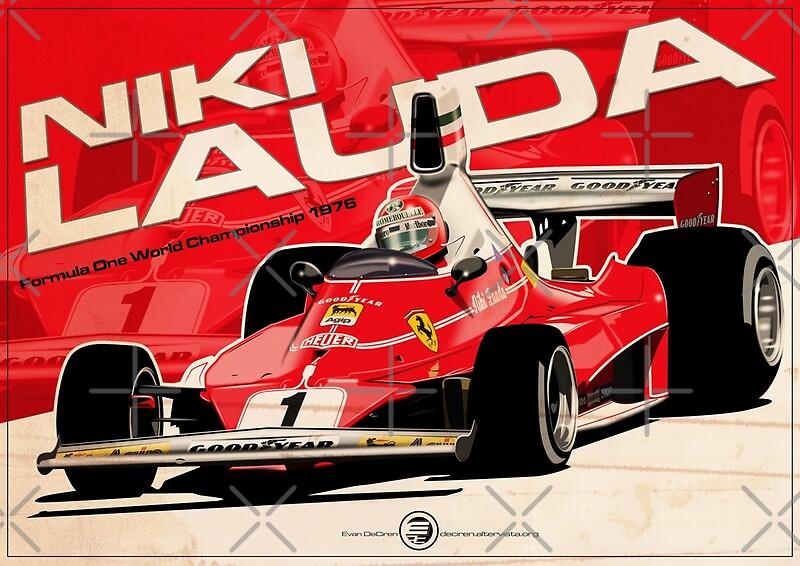 Rush Iphone Wallpaper Niki Lauda Posters Redbubble