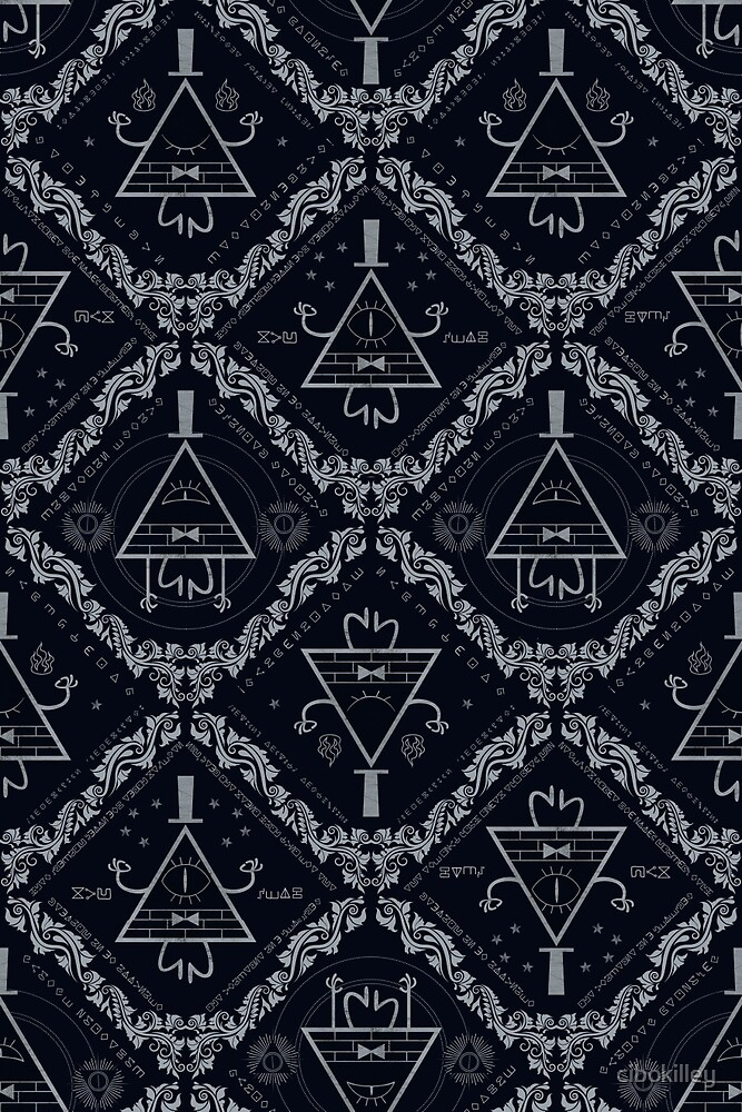Gravity Falls Bill Cipher Wallpaper Iphone Quot Bill Cipher Gravity Falls Wallpaper Pattern Quot By