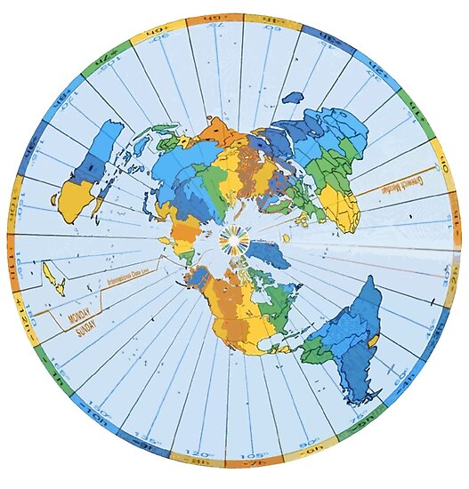 Flat Earth Designs - FLAT EARTH MAP EXCELLENT COLORS\