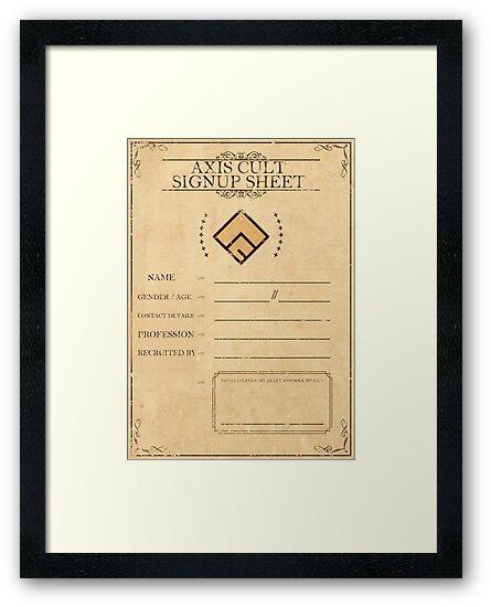 Axis Cult Signup Sheet\ - signup sheet