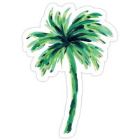 """""""Palm Tree"""" Stickers by mjfoery   Redbubble"""