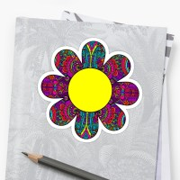 """HIPPIE BOHO FLOWER HIPPY COLORFUL PEACE PATTERN DAISY ..."