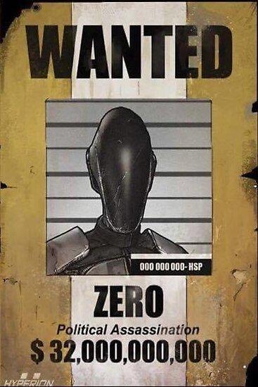 Borderlands Zero Wanted Poster\