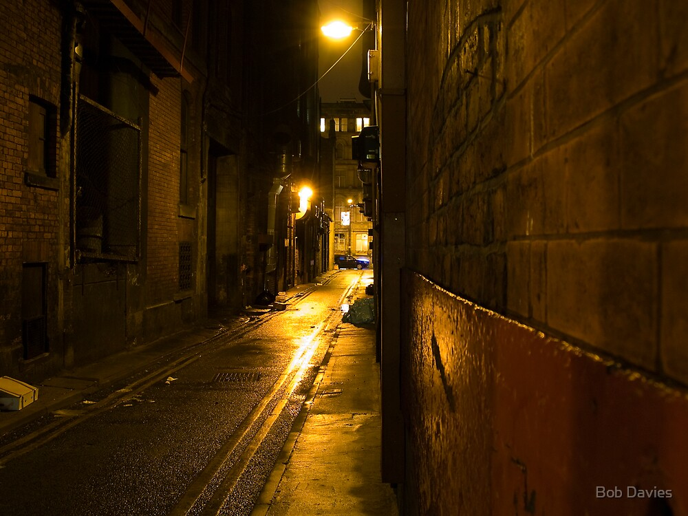 Manchester United Wallpaper Iphone X Quot Gloomy Dark Alleyway At Night Quot By Bob Davies Redbubble