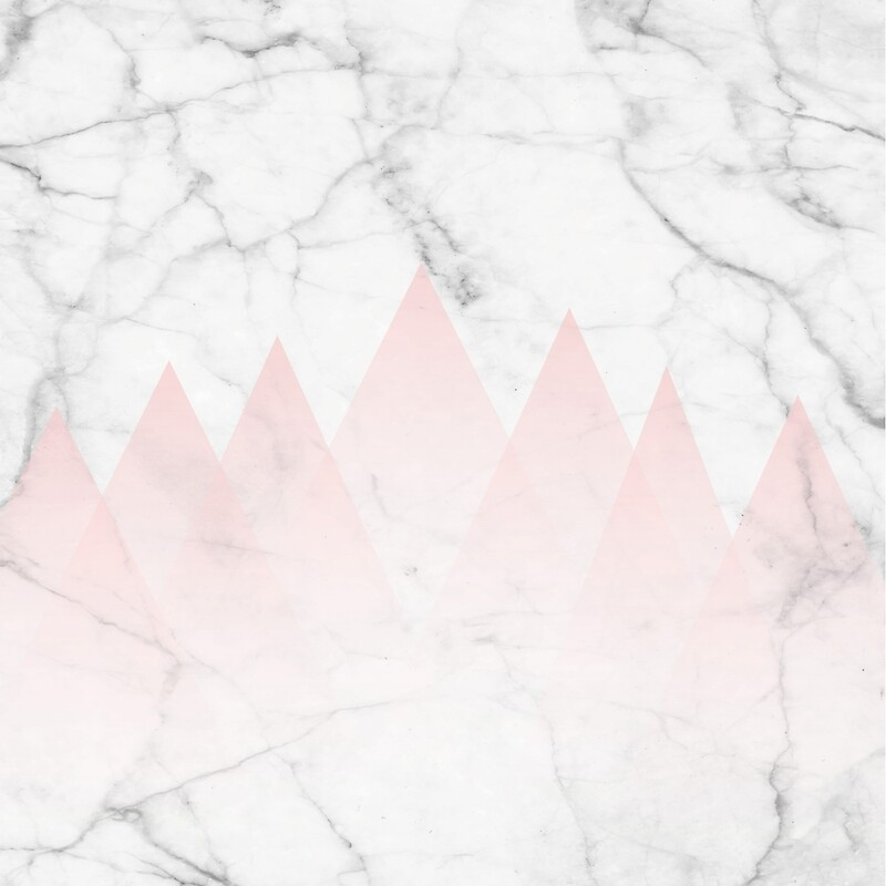 Baby Pink Iphone Wallpaper Quot White Marble Background Pink Abstract Triangle Mountains