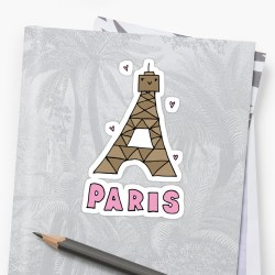 Particular Little Cartoon Eiffel Tower By Little Cartoon Eiffel Stickers By Redbubble Eiffel Tower Cartoon Clip Art Eiffel Tower Cartoon Pink