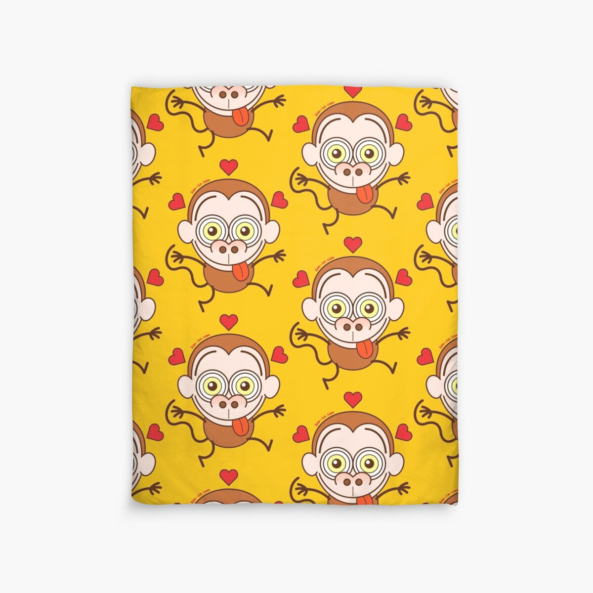 Grappige Dekbedovertrekken Quotfunny Brown Monkey Feeling Crazy In Love Quot Duvet Covers By