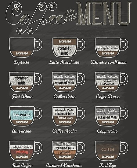 Coffee Shop Menu\