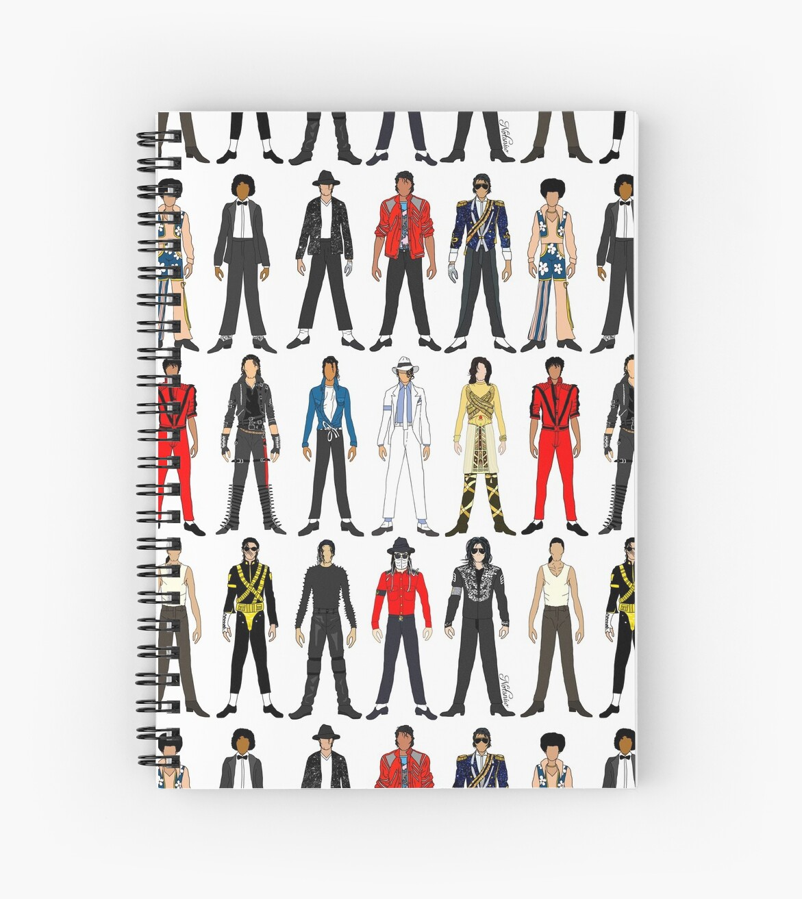 King Jackson Outfits Of King Jackson Pop Music Fashion Spiral Notebook By Notsniw Art