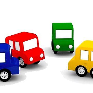 little cars - cartoon cars - colorful cars - little cars\