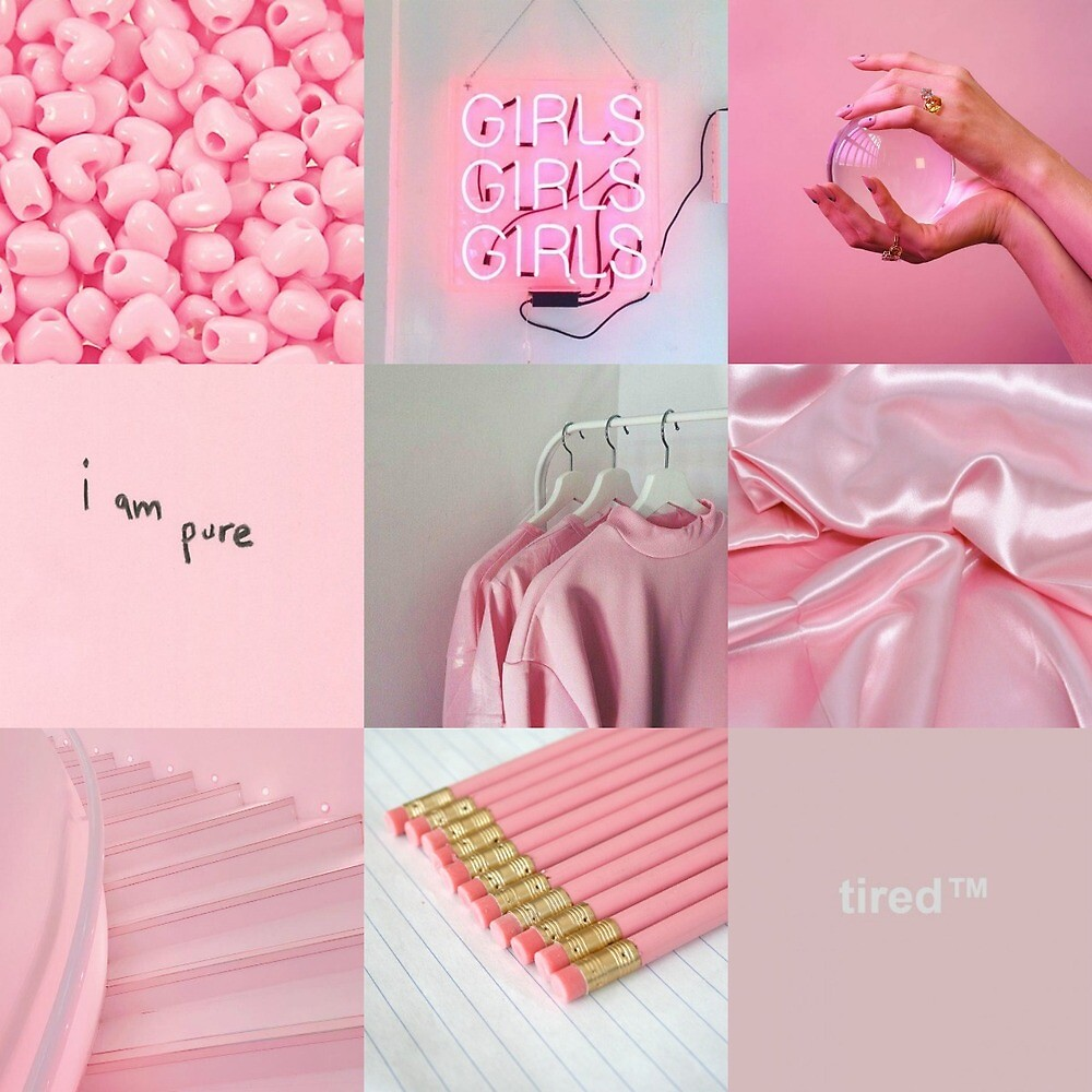 Cute Pink Wallpaper For Phone Quot Pink Aesthetic Collage Quot By Kaithepie Redbubble