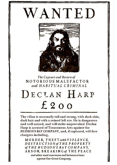 Declan Harp wanted poster\