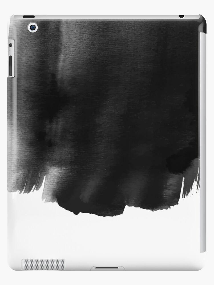 Grunge black watercolor background\