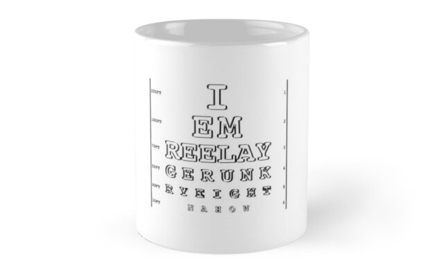 Drunk Eye Chart, Funny Drinking Gifts\