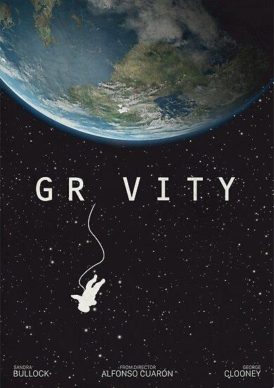 Gravity, alternative poster, printable, Sandra Bullock, George