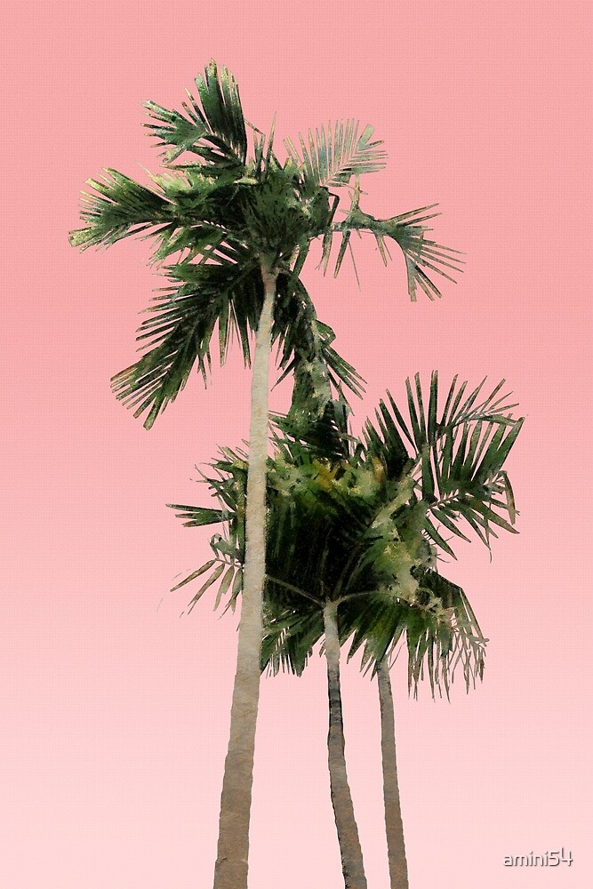 Baby Toddler And Town Palm Trees On Pink Wall By Amini54 Redbubble