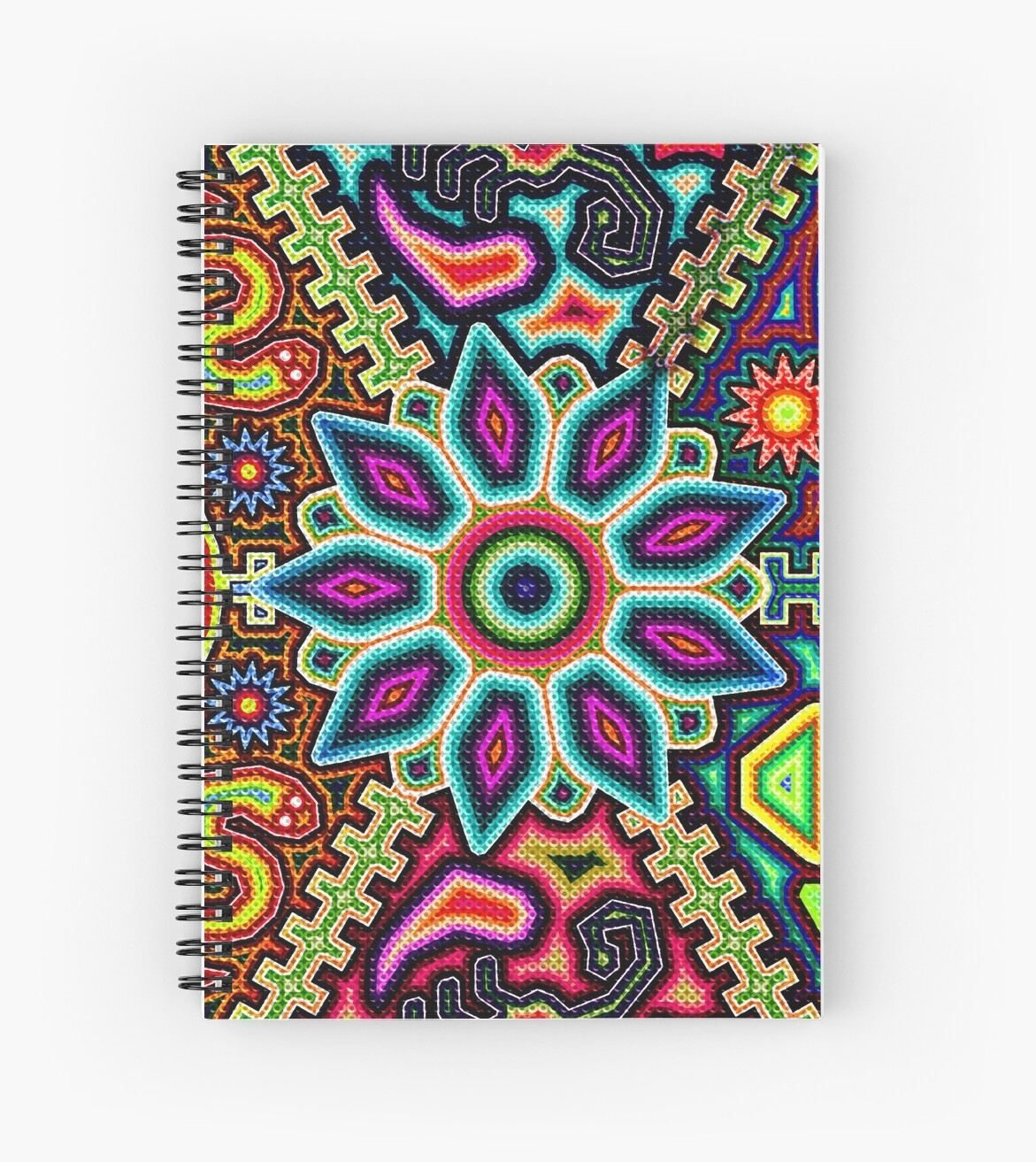 Arte Huichol Hd Huichol Art Mexico Spiral Notebook By Sauher